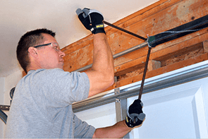 Garage door service and repair in Edmonton.
